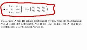 Inverse Matrix Berechnen Mit Rechenweg : matrix mal matrix onlinemathe das mathe forum ~ Themetempest.com Abrechnung