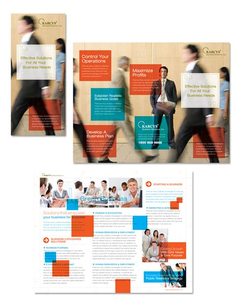 Software Solutions Tri Fold Brochure Template Word Business Solutions Consultant Tri Fold Brochure Template