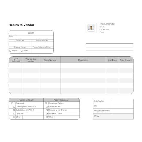 quartermaster templates return to vendor form