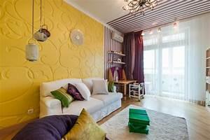 Farben Für Wände Ideen : wandgestaltung wohnzimmer mutige und moderne wahl ~ Markanthonyermac.com Haus und Dekorationen