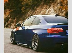 BMW E92 3 series blue slammed BMW Ultimate Driving