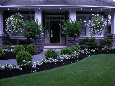 traditional front yard landscaping simple house designs