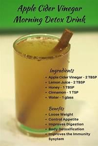 Apple Cider Vinegar Morning Detox Drink for Weight Loss ...