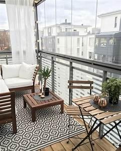 Vorhänge Skandinavischer Stil : 1001 ideen zum thema stilvollen kleinen balkon gestalten ~ Markanthonyermac.com Haus und Dekorationen