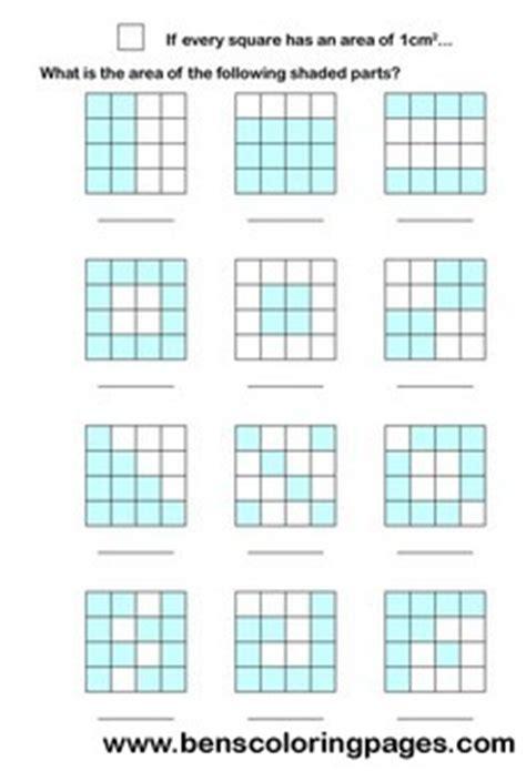 area math worksheets