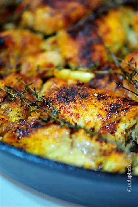 skillet chicken recipes skillet roasted chicken recipe add a pinch