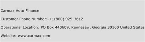 Carmax Auto Finance Customer Service Phone Number