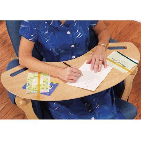 wooden armchair lap desk portable chair table arm rest tv