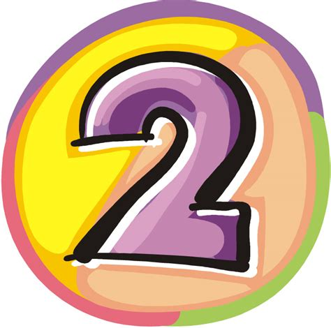 Yellow Rounded Number 2 Clip Art At Clker.com