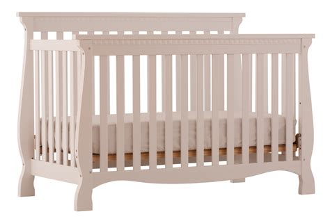 white crib venetian white 4 in 1 fixed side convertible crib at gowfb