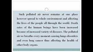 Essay On Air Pollution Youtube