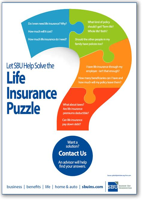 Which scenario would most life insurance policies exclude coverage for? Solving the Life Insurance Puzzle infographic | Saginaw Bay Underwriters