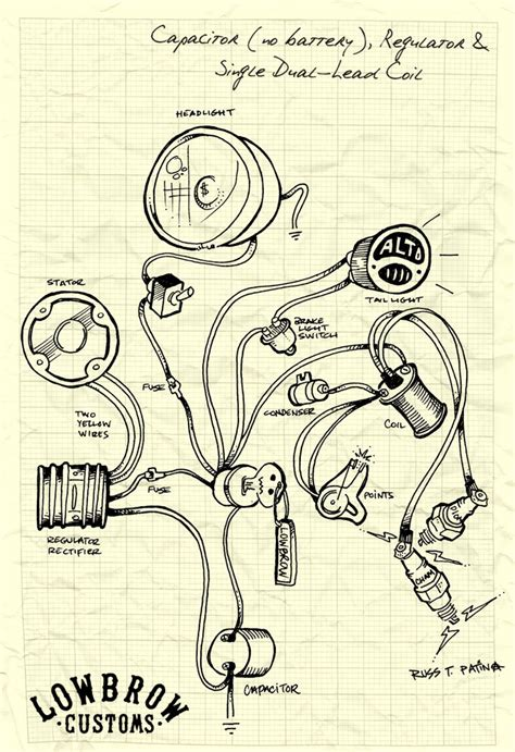 Chopper Wiring Diagram by Lowbrow Customs Tech