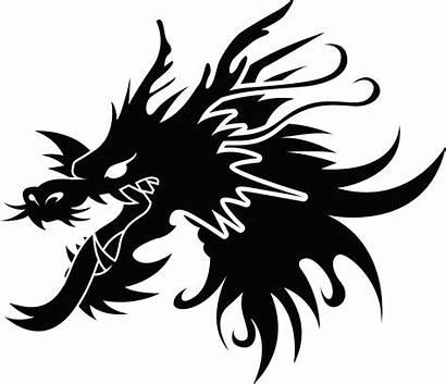 Dragon Chinese Vector Clip Silhouette Head Clipart