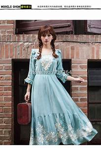 Aliexpress.com : Buy light blue/lilac embroidery long ...