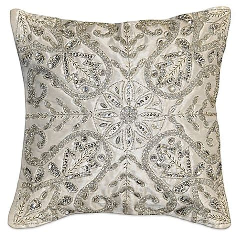 white and silver throw pillows square throw pillow in white silver bed