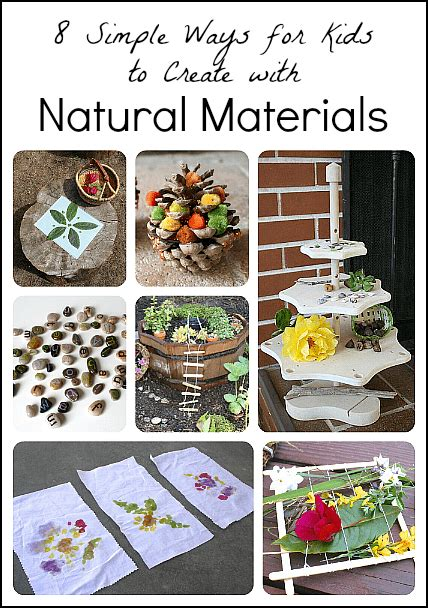 8 Simple Ways For Children To Create With Natural Materials  Buggy And Buddy