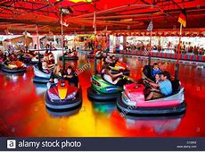 Bumper cars, folk festival, Muehldorf am Inn, Bavaria