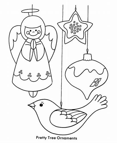 Coloring Christmas Tree Pages Ornament Ornaments Printables