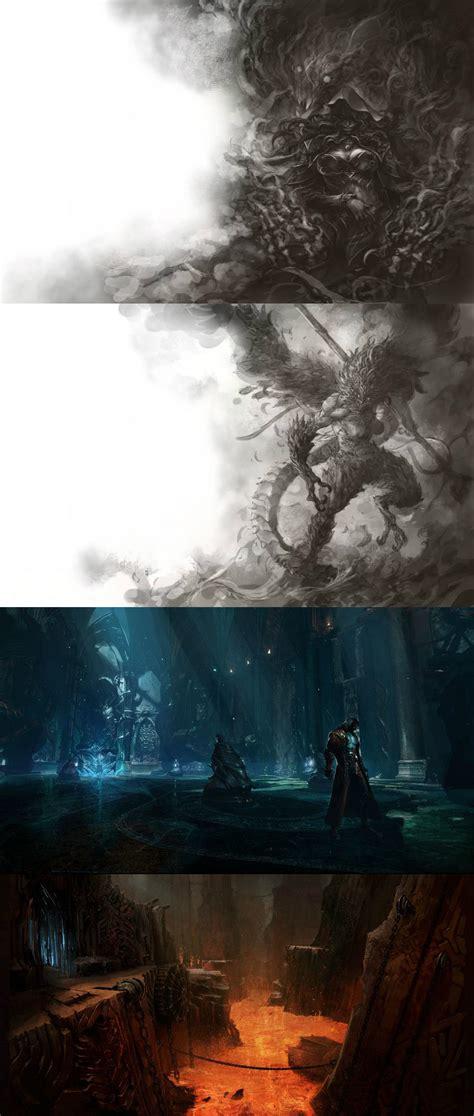castlevania lords  shadow  concept art  darkly