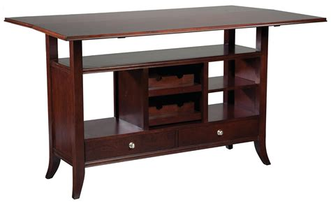 Fairfield Tables Flip-top Wine Rack Console Table With