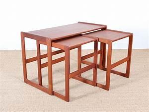 Table Gigogne Scandinave : tables gigognes scandinave en teck galerie m bler ~ Teatrodelosmanantiales.com Idées de Décoration