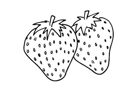 Sweet And Colorful Strawberry Coloring Pages