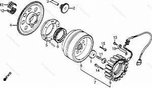 Honda Motorcycle 1985 Oem Parts Diagram For Alternator