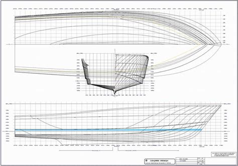 Sport Fishing Boat Blueprints by Free Boat Blueprints Hull Design For 60 Ft Production