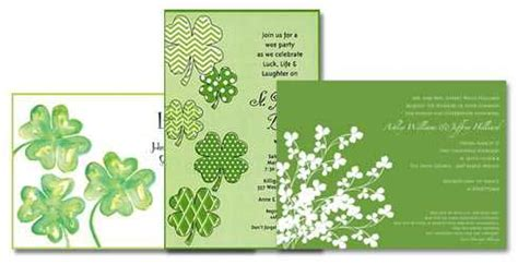 st patricks invitations
