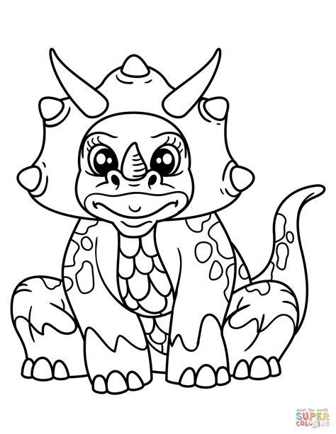 Cute Styracosaurus coloring page Free Printable Coloring