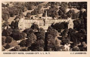 garden city new york hotel real photo antique postcard