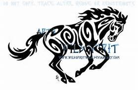 Tribal Horse Tattoo De...