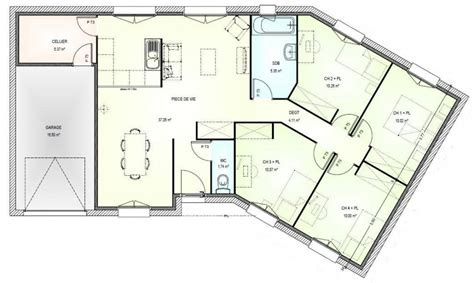 plan maison en v plan de maison plain pied 110m2 villa de plain pied with plan de maison plain pied 110m2 cool