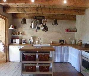 Meuble Cuisine Campagne : cuisine de campagne photo 2 4 cuisine ouverte sur le salon meuble en acier et ~ Teatrodelosmanantiales.com Idées de Décoration