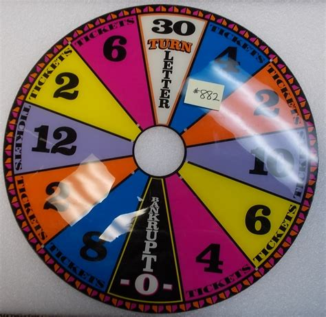 wheel arcade fortune parts game ticket machine redemption coin pinball vending etc op