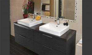 Meuble De Salle De Bain Gris : meuble salle bains contemporain gris mon rdv habitat ~ Preciouscoupons.com Idées de Décoration