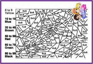 Free Color by Number Math Worksheets