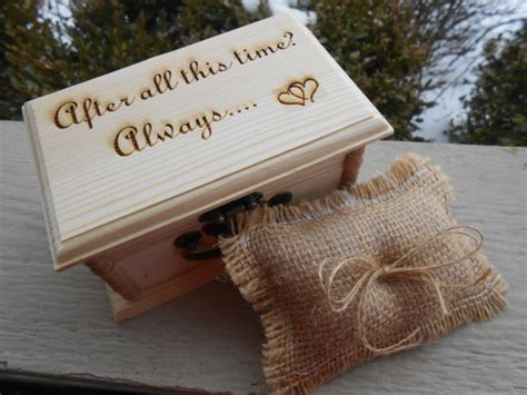 harry potter ring box pillow choose your pillow style after all this time always wedding