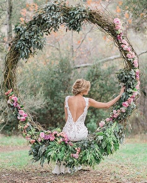Imagine A Circular Floral Swing As Part Of Your Wedding