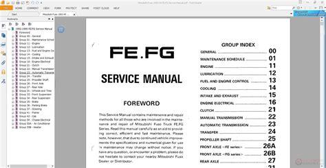 mitsubishi fuso   fefg service manual auto repair