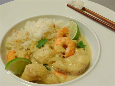 cuisiner la lotte au curry curry de lotte au lait de coco et citron vert teatime
