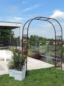 Arche Metal Pour Plante Grimpante : cette arche de jardin double en m tal au design ~ Premium-room.com Idées de Décoration