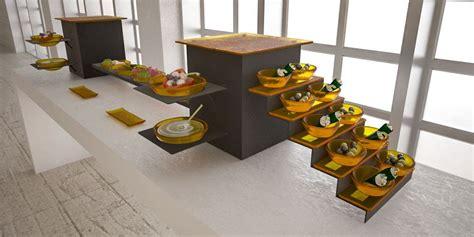 Cold cuts station small coffee break buffet system   Buffetize