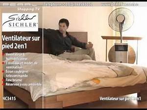 Ventilateur Brumisateur Sur Pied : ventilateur sur pied 2 en 1 youtube ~ Melissatoandfro.com Idées de Décoration