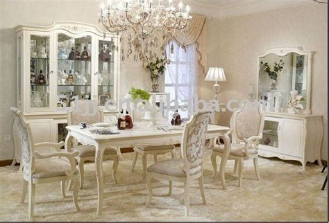 antique french provincial  white dining room set