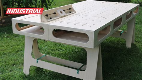 paulk homes plywood work bench created