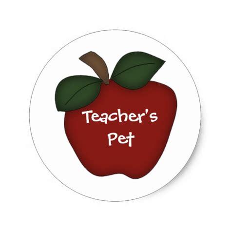 Teacher's Petred Apple Classic Round Sticker Zazzle