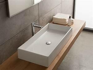 Vasque À Poser Rectangulaire : vasque poser rectangulaire en c ramique teorema 80 by ~ Melissatoandfro.com Idées de Décoration