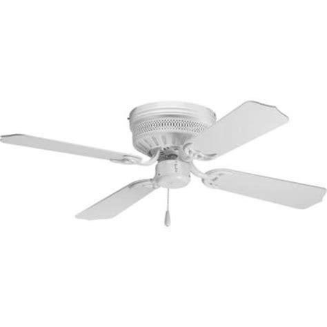 hugger ceiling fan without light progress lighting airpro hugger 42 in white ceiling fan
